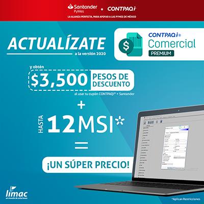 Descuento Santander Contpaqi Comercial